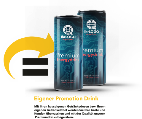 energy drink mit eigenem label