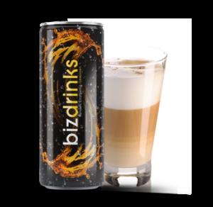 getränkedosen mit eigenem logo zum beispiel den Milchkaffe in Ihrem Design