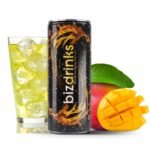 Energy drink mit Logo