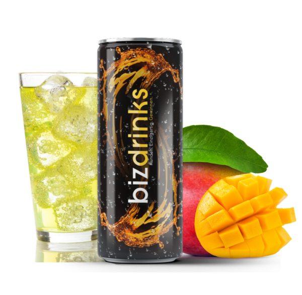 Energy drink mit Logo
